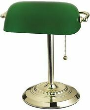 Bankers Lamp Brass/grn by Living Accents Mfrpartno 17466012