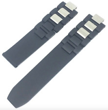 20MM RUBBER BAND STRAP BLACK FOR CARTIER MUST 21 CHRONOSCAPH