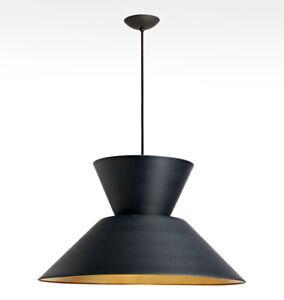 """NEW Rejuvenation Fixture, 36"""" Cord, Canopy for ANELLO 30"""" SPUN CONE PENDANT Lamp"""