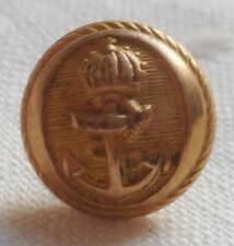 BOUTON DORE OFFICIER MARINE FRANCE SECOND EMPIRE NAPOLEON III 11 mm ORIGINAL