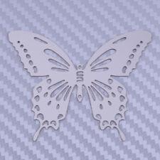10pcs Butterfly Silver Metal Wall Art Outdoor Garden Sticker Decoration