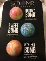 Da Bomb bath fizzers 3 pc set Groovy, Sweet & Mystery Bomb Spa Gift Pack NEW!