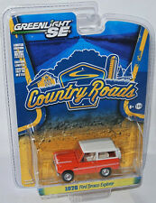 Greenlight Country Roads - 1976 FORD BRONCO EXPLORER - orange/white - 1:64