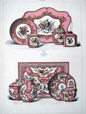 PORCELLANE DI SEVRES,ART DECO,NOUVEAU,ARREDAMENTO,STAMPA ANTICA,ENGRAVING,1880