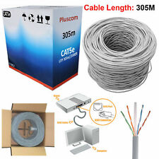 305m RJ45 Cat5e Ethernet Network Outdoor FTP Patch LAN Bulk Roll Reel Cable Cord