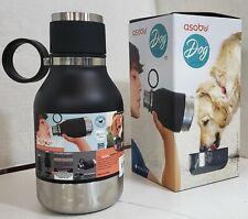 NEW Asobu NA-SDB1 BLACK Vacuum Insulated Water Bottle with Dog Bowl 40oz/1.1L