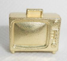 Monopoly Gold Television Token Metal Mover Piece TV