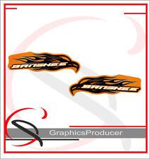 Yamaha Banshee Decals 2007 Orange Model Full Set Graphics For OEM Fenders Back