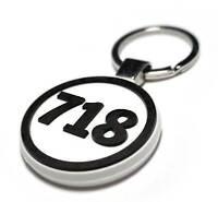 Porsche 718 Boxster Cayman Spyder Schlüsselanhänger key ring weiss schwarz