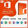Microsoft Office 2019 Professional Plus Pro Plus -Download &Key 32/64 Bit