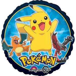 "Pokemon Foil Mylar Balloon Birthday Party Decoration 1 Per Package 18"" Round NEW"
