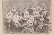 """1897 Yale Football Team Vintage Type 1 Cabinet Photo in Full Uniform,  5"""" x 8"""""""
