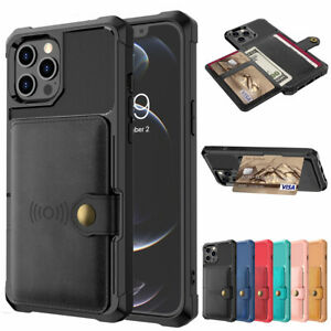 For iPhone 13 12 Pro Max 11 7/8 Xr Xs X Leather Wallet Card Back Case Flip Cover