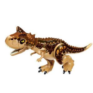 "Indominus Carnotaurus XXL Jurassic Large Dinosaur 7x11"" Figure Blocks Fit Lego"