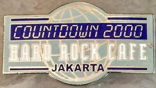 Hard Rock Cafe JAKARTA 2000 MILLENNIUM PIN Countdown 2000 Globe HRC #3776