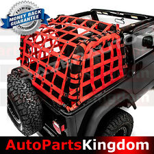 Off Road 4 Door RED Cargo Net System Restraint Net 4x4 Fit 97-06 Jeep TJ Wrangle