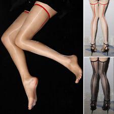 1D Retro Shiny Nylon Thigh High Long Stockings Women Ultra thin Pantyhose Tights