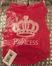 PET Animal PRINCESS T Shirt Glittery Dog Puppy Cat Rabbit Coat Sweater PINK XXS