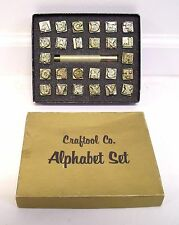 "RARE 1/2"" ""Craftool"" #8141 Celtic Knot Alphabet - Leathercraft Tooling Stamping"