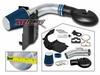 "4"" BLUE Heat Shield Cold Air Intake Kit + Filter For 98-03 Durango 5.2L/5.9L V8"
