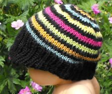 Istruzioni stampate-BABY SETA a righe Picco Cappello Beanie knitting pattern