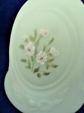 Fenton Glass Bell - Custard Green with Daisies in Oval Panels, Signed