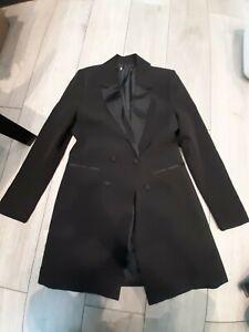 Black Blazer Jacket Long Size 12
