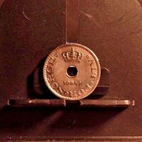 CIRCULATED 1949 10 ORE NORWEGIAN COIN (101516)12.....FREE DOMESTIC SHIPPING !!!