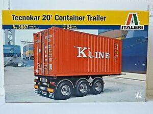 "Italeri Model Kits Tecnokar 20"" Container Trailer"
