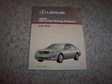 2004 Lexus LS430 LS 430 Factory Original Electrical Wiring Diagram Manual 4.3L