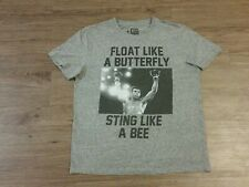 "Muhammad Ali ""Float Like A Butterfly Sting Like A Bee"" Gray T-Shirt Men's Sz M"