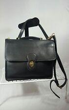 COACH Willis Vintage Black Leather Shoulder Bag Crossbody Purse # 9927 Womens