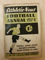 ATHLETIC NEWS FOOTBALL ANNUAL 1937-38 Edited by Ivan Sharpe