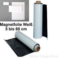 Magnetfolie Magnetschild Auto KFZ Werbung Weiß Magnet Folie Magnetstreifen 0,9mm