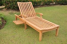 A GRADE TEAK STEAMER CHAISE SUN LOUNGER POOL OUTDOOR GARDEN PATIO ND COLLECTION