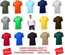 HANES LEGENDARY BIG MAN'S 215GSM BEEFY T-SHIRT 8 COLOURS SIZES S-6XL RRP £15+