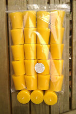 60 100% Pure Natural English Beeswax Votive Candles Unscented 35mm x 50mm