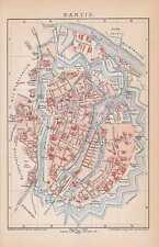 DANZIG Gdansk Glówne Miasto Rechtstadt STADTPLAN von 1894 Festungsanlagen