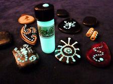 Glow-On® Super Phosphorescent  glow paint for bead work, 4.6ml vial / green glow
