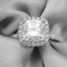Forever Brilliant Cushion Engagement Ring With Diamonds C11M