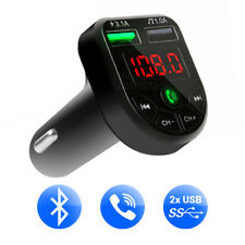 Bluetooth FM Transmitter Wireless Adapter MP3 Radio Car 2-Port USB Charger