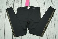 NEW BNWT Versace For H&M Black Monogram Logo Embellished Leggings EUR 40 US 10