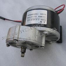 1Pcs DC24V Metal Gear Box Reducer Motor 400rpm 250W For Electric Bike/DIY