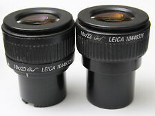 Pair Leica 10x 23 Glasses Goggles Microscope Eyepieces 30mm 10446329 10446326