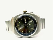 Collectible Ricoh Japan 3033 Automatic Day/Date 37x44mm Double Crown Steel Watch