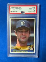 1984 Donruss #248 Don Mattingly Rookie RC New York Yankees PSA 8 NMMT