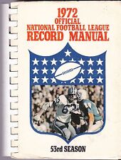 OFFICIAL 1972 NATIONAL FOOTBALL LEAGUE RECORD MANUAL - NFL