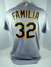 2018 Oakland Athletics A's Jeurys Familia #32 Game Issued Grey Jersey 50th Patch