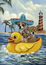 """Precious Pet Garden Flag - Chihuahua Summer Sailing 12"""" x 18"""" ~ Charity!!"""