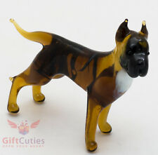 Art Blown Glass Figurine of the American Staffordshire Bull Terrier dog